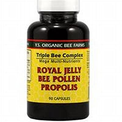 Y.S. Organic Triple Bee Complex -- 90 Capsules / Royal Jelly, Propolis, Bee Pollen/