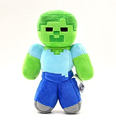Funsion 15cm6 Minecraft Steve Zombie Green Creeper Plush Soft Toy Doll by Minecraft