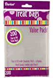 Darice 28-002V 3-3/4-Inch by 6-Inch Clear Treat Bag 200-Pieces