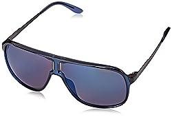 Carrera Men's New Safaris Aviator Sunglasses, Blue & Blue Sky Mirror, 62 mm