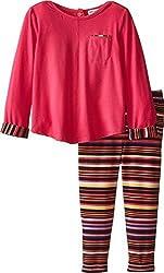 Splendid Littles Baby Girls' Chalk Stripe Pant Set, Hot Pink, 3-6 Months
