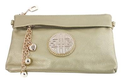 Women's Soft-Feel Leather Wristlet Crossbody Wallet