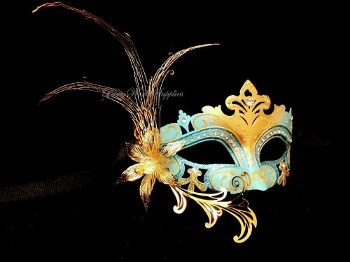 Masquerade Mask Laser Cut Flower Crystals Venetian Mask Costume Prom Party