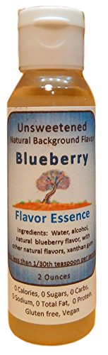 BLUEBERRY Flavoring by Flavor Essence (Unsweetened, Natural Background Flavoring) 2 Oz.| For Beverages: coffee/tea, shakes, smoothies, bar drinks. For Foods: baking, doughs, batters, frostings, yogurt (Food Extracts compare prices)