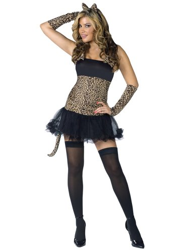Sexy Cat Costume Animal Costume Leopard Print Mini Dress Cat Tail Cat Ears
