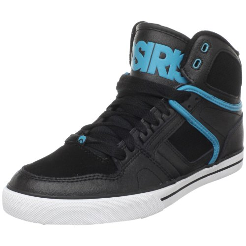 Osiris Men's NYC 83 Vulcanized Skate Shoe,Black/Black/Teal,10.5 M US