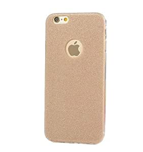 Novo Style Luxury Fashion Bling Sparkling Glitter Soft Back Cover Case For Apple iPhone 6- Light Golden