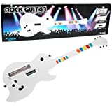 Wii Wireless Guitar for Rock Band and Guitar Hero Wii - Controller - Guitar - White (KMD)