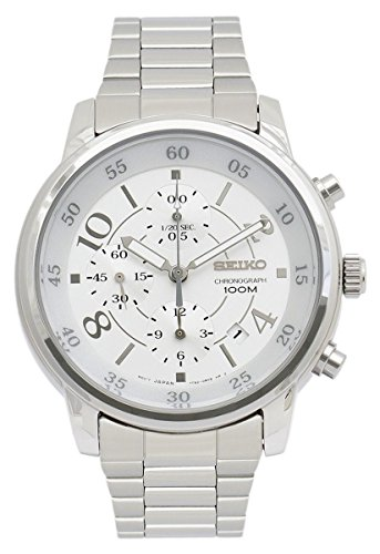 Seiko Neo Sport Chronograph Silver Dial Stainless Steel Mens Watch Sndw87