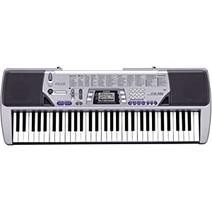 Casio CTK-496 Electronic Keyboard with 61 Full-Size Keys and Singalong Capability