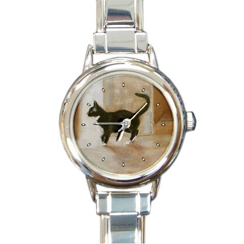 Limited Edition Violano Italian Charm Watch Cat Black & White