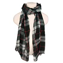 Elegant Classic Plaid Fashion Fringe Scarf, Black