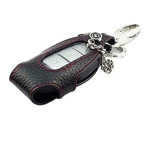 Porte clés attachée à un étui en cuir véritable pour Qashqai Bluebird TIIDA Teana Nissan Motor