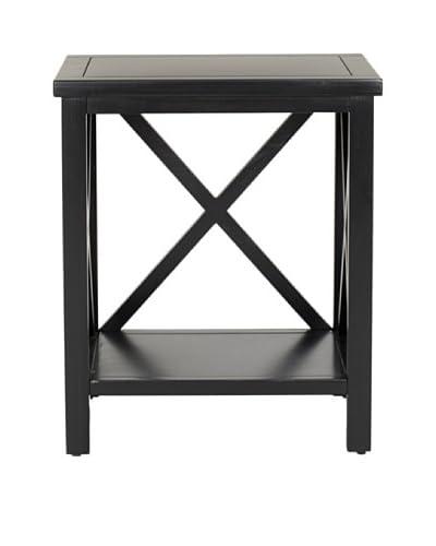Safavieh Candence Cross Back End Table, Black