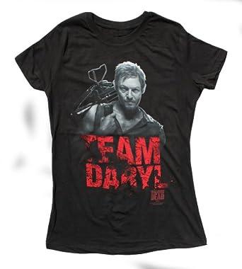 The Walking Dead Team Daryl Dixon Junior Fit T-shirt:Amazon:Clothing