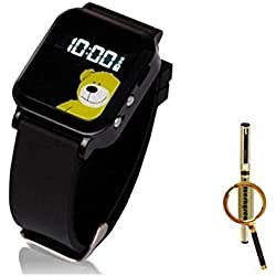 The Smallest Dual GPS GSM Position GPRS Tracker Watch MIC SOS For child kids old + Blueskysea Free Gift Gel Pen (Black) by China Oem