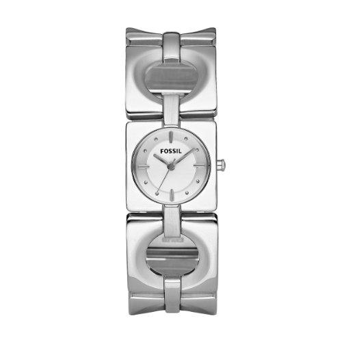 Fossil ES2216 - Orologio da polso da donna, cinturino in acciaio inox colore argento