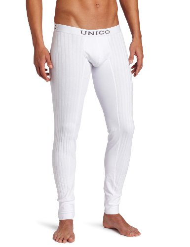 Mundo Unico Men's Cristalino Long Johns, White, Large (Mens Thermal Leggins compare prices)