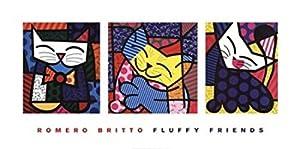 Fluffy Friends - Poster by Romero Britto (40 x 20)