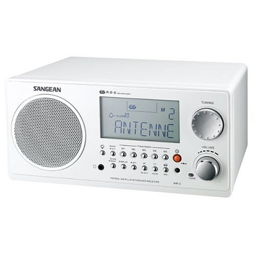 Sangean WR-2 WH HiFi AM/FM-RDS Table-Top Radio (White) (Tabletop Am Fm Radio compare prices)
