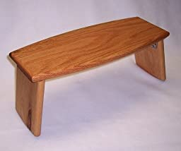 Meditation Bench, Folding Legs; Portable (Oak)