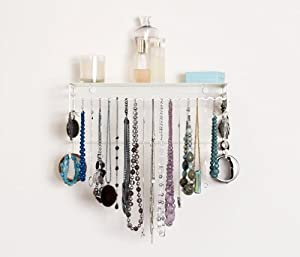 BelleDangles Classic Jewelry Organizer (Off-White/Cream)