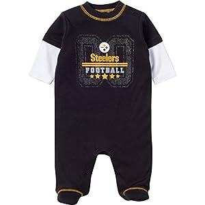 Pittsburgh Steelers Sleep 'N Play Sleeper Pajamas - Black at Steeler Mania