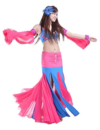 AveryDance Belly Dance Costume Rhinestone 2 Pieces Set