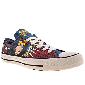Converse All Star Ox Iii Wonder Woman - 5 Uk - Blue & Yellow - Fabric