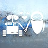 DISNEY White Decal WALL E EVE ROBOT LOVE Window White Sticker