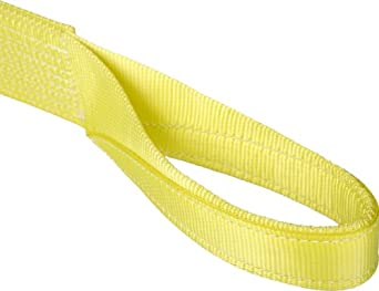 Mazzella EE1 Polyester Web Sling, Eye-and-Eye, Yellow, 1 Ply, Flat Eyes, Vertical Load Capacity