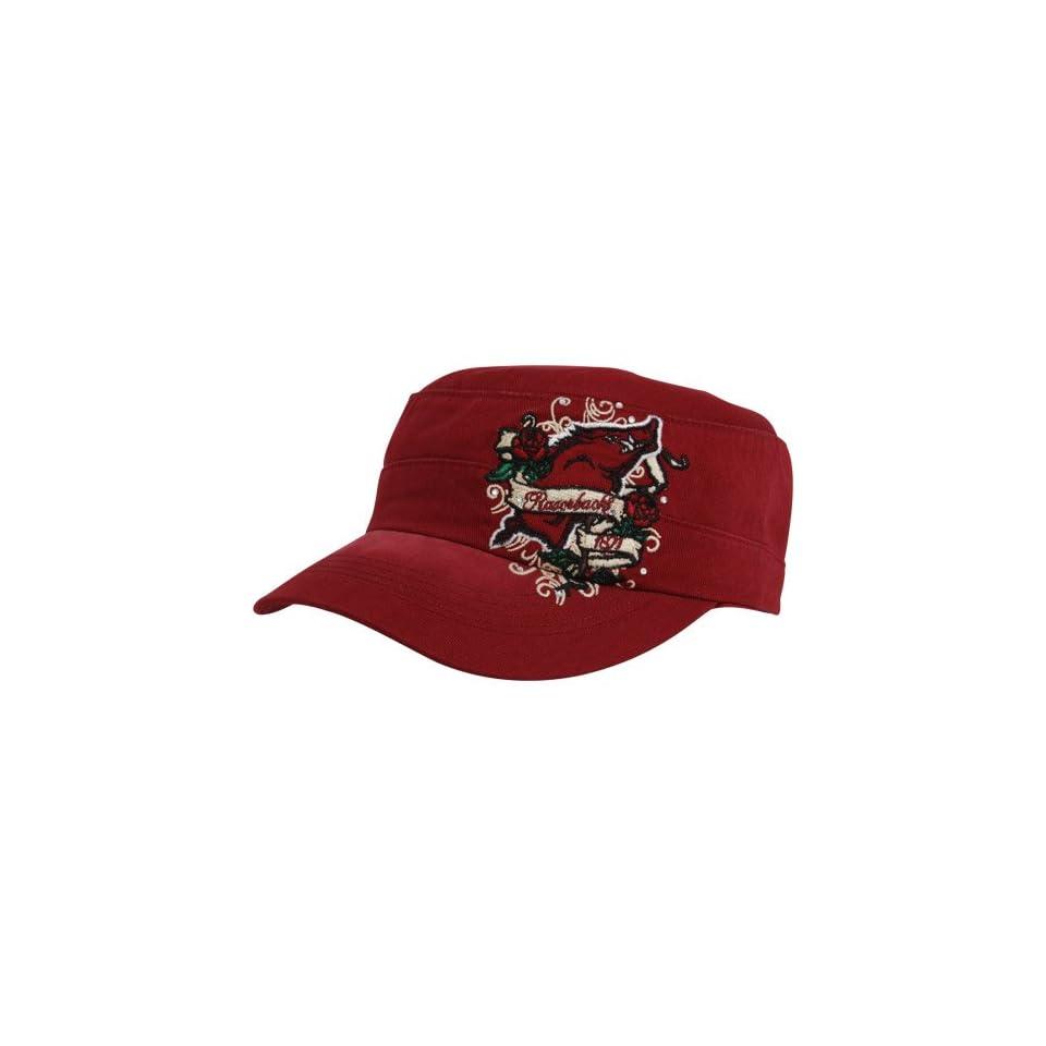 Top Of The World Arkansas Razorbacks Ladies Cardinal Eve Adjustable Military Style Hat