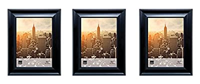 Kiera Grace Reagan Picture Frame (Set of 3), 5 by7 Inch, Black