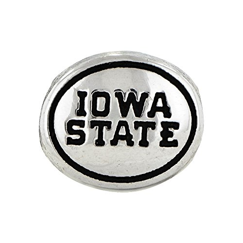 Roy Rose Jewelry Sterling Silver Antiqued Iowa State University Collegiate Bead