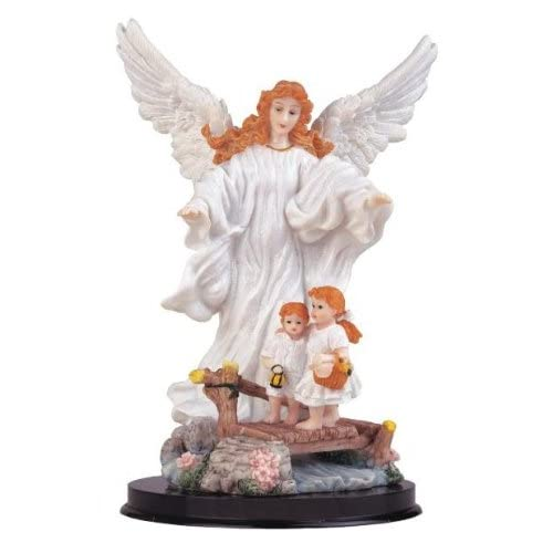 Inch Guardian Angel Holy Figurine Religious Cherub Statue DecorationGuardian Angel Statues Figurines