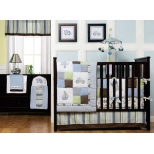 Kids Line Mosaic Transport 8 Pc. Crib Set back-1004532