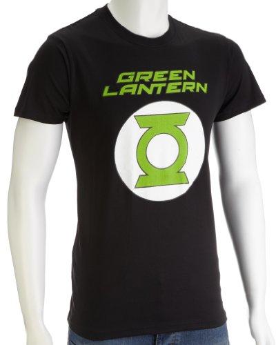 DC Comics Green Lantern Logo Men's T-Shirt Black DC015BS Small