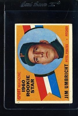 1960 TOPPS #145 JIM UMBRICHT RC GB VG CREASE *63428
