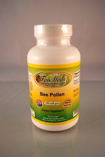 Bee Pollen 500Mg, Energy Aid, Antioxidant, Made In Usa - Various Sizes (1 Bottle - 100 Softgels)