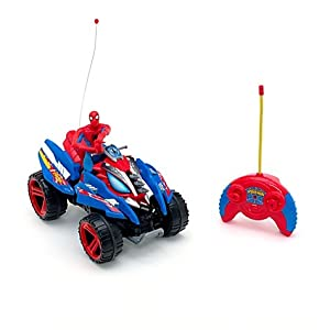 Radio control spider man quad bike toys games - Quad spiderman ...