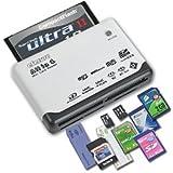 eSecure: Lecteur de carte USB Blanc compatible avec une grande majorités des cartes mémoires