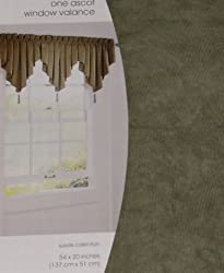Home Suede Collection Ascot Window Valance Green Curtain Topper