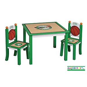 Guidecraft Boston Celtics Kids Table And Chair Set from Guidecraft