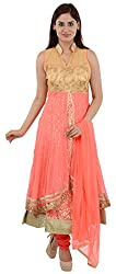 Wedding Pearls Women's Dress (Peach)