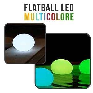 Linxor - Flatball Boule Lampe Led Flottante Multicolore 35cm x 35cm x 24cm Rechargeable sur Socle + Télécommande