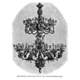 Grabado antiguo (1860) - Xilografía - Orfebrería.- Araña Ejecutada En La Fábrica Platería De Martínez, Para La...
