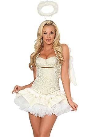 Amazon.com: 3WISHES 'Celestial Gold Costume' Sexy Angel