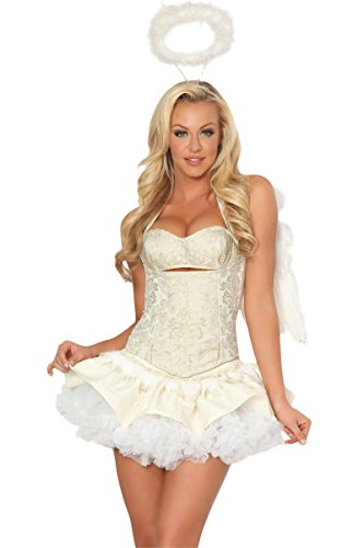 3WISHES 'Celestial Gold Costume' Sexy Angel Halloween Costumes for Women
