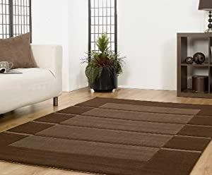 Visiona Soft Brown 4311/784 Beige/Cream 4311/679 Striped Luxury Rugs Modern Contemporary And Neautral Shades Cheap And Affordable Rug from Flair Rugs