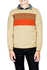 Pure Lambswool Striped Jumper [T87-3909M-S]